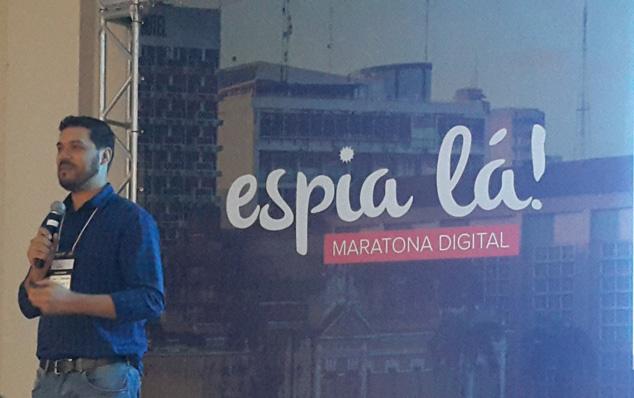 Cristiano Santos ministrou a palestra sobre o Linkedin no evento Espia Lá! Maratona Digital em Cuiabá (MT).