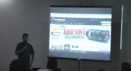 Douglas Villar, gerente de Ecommerce da Jr. Pneus, foi um dos case de sucesso de Mato Grosso a ter um espaço para palestrar no final do evento.